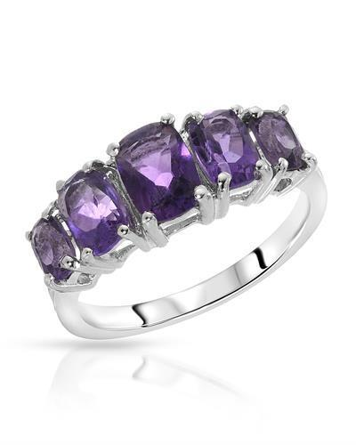 Brand New Ring with 2.5ctw amethyst 925 Silver sterling silver