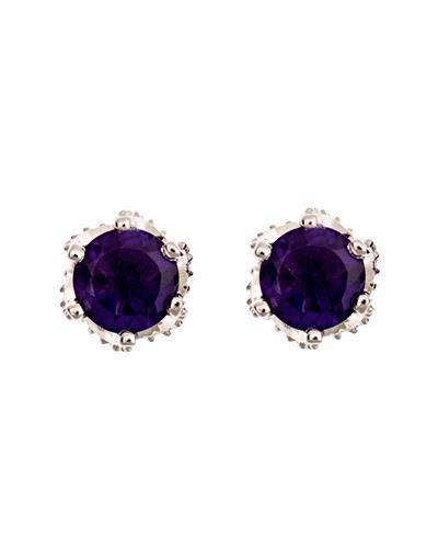Brand New Earring with 1.4ctw amethyst 925 Silver sterling silver