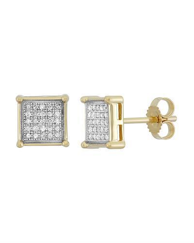 Brand New Earring with 0.15ctw diamond 10K Yellow gold