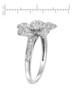 Lundstrom Brand New Ring with 0.7ctw diamond 14K White gold