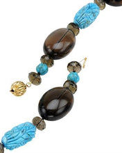 Load image into Gallery viewer, Brand New Necklace with 1171ctw of Precious Stones - topaz and turquoise 14K Yellow gold