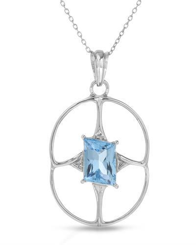 Brand New Necklace with 5.26ctw topaz 925 Silver sterling silver