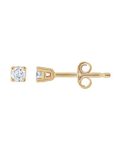 Brand New Earring with 0.1ctw diamond 14K Yellow gold