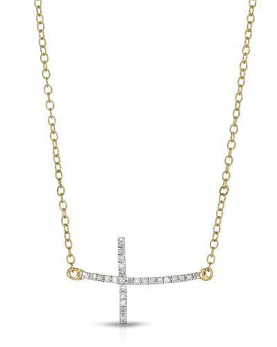 Brand New Necklace with 0.09ctw diamond 14K Yellow gold