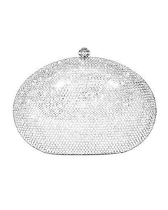 Dolli Rose Brand New Clutch with 0ctw crystal  Silver base metal