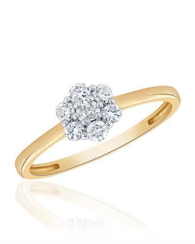 Brand New Ring with 0.25ctw diamond 10K Yellow gold