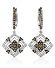 Load image into Gallery viewer, Brand New Earring with 0.78ctw of Precious Stones - diamond and diamond 14K White gold