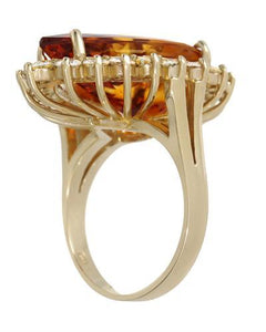 Julius Rappoport Brand New Ring with 13.37ctw of Precious Stones - citrine and diamond 14K Yellow gold