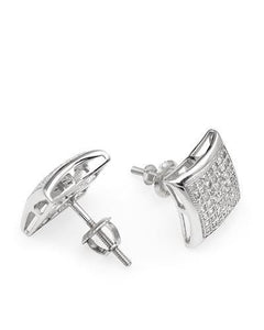 Lundstrom Brand New Earring with 0.4ctw diamond 10K White gold