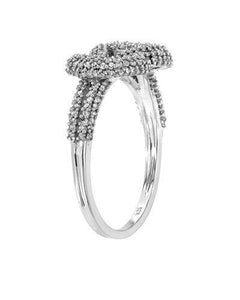 Lundstrom Brand New Ring with 0.73ctw diamond 10K White gold