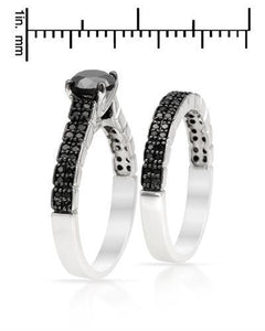Brand New Ring with 1.5ctw of Precious Stones - diamond and diamond 925 Silver sterling silver