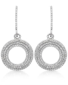 Lundstrom Brand New Earring with 0.8ctw diamond 10K White gold
