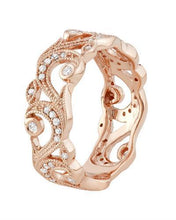 Load image into Gallery viewer, Lundstrom Brand New Ring with 0.25ctw diamond 10K Rose gold