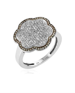 Lundstrom Brand New Ring with 0.5ctw diamond 10K White gold