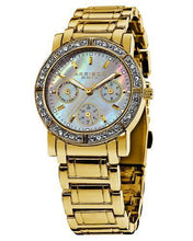 Load image into Gallery viewer, Akribos XXIV AK530YG Brand New Japan Quartz day date Watch with 0ctw of Precious Stones - crystal and mother of pearl