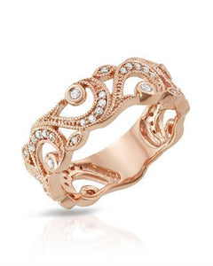 Lundstrom Brand New Ring with 0.25ctw diamond 10K Rose gold