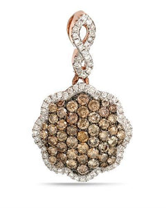 Brand New Pendant with 0.83ctw of Precious Stones - diamond and diamond 14K Rose gold