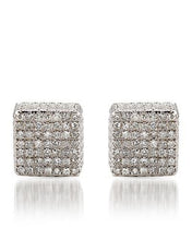 Load image into Gallery viewer, Lundstrom Brand New Earring with 0.55ctw diamond 925 Silver sterling silver
