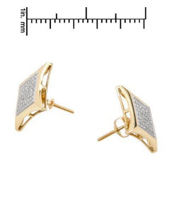 Lundstrom Brand New Earring with 0.35ctw diamond 14K Yellow gold