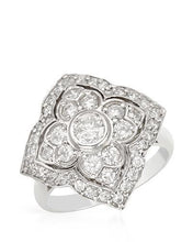 Load image into Gallery viewer, Brand New Ring with 1ctw of Precious Stones - diamond and diamond 14K White gold