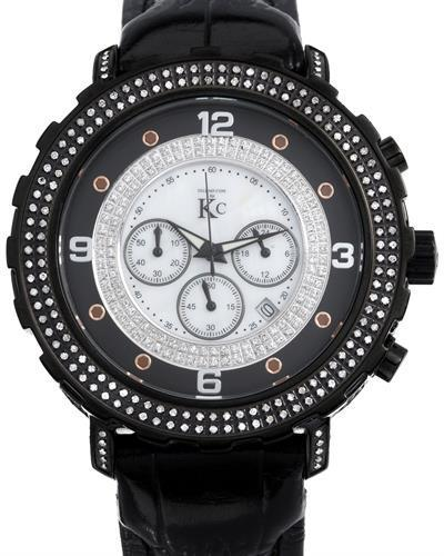 Techno Com by KC Brand New Japan Quartz date Watch with 2.5ctw of Precious Stones - crystal, diamond, and mother of pearl