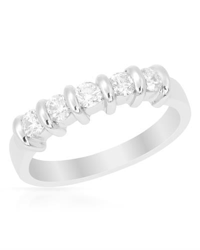Brand New Ring with 0.45ctw diamond 14K White gold