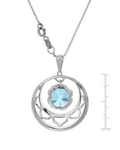 Brand New Necklace with 8.76ctw topaz 925 Silver sterling silver