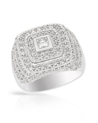 Whitehall Brand New Ring with 1.15ctw of Precious Stones - diamond and diamond 14K White gold