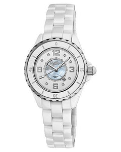 Akribos XXIV AK485WT Brand New Japan Quartz date Watch with 0.04ctw of Precious Stones - diamond and mother of pearl
