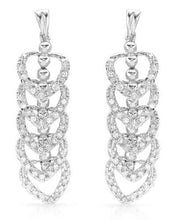 Load image into Gallery viewer, Lundstrom Brand New Earring with 0.85ctw diamond 14K White gold