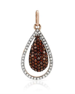 Brand New Pendant with 0.36ctw of Precious Stones - diamond and diamond 14K Rose gold