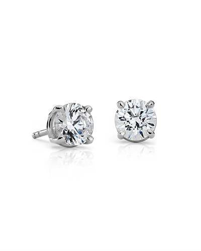 Whitehall LOVERS Brand New Earring with 1ctw lab-grown diamond 14K White gold