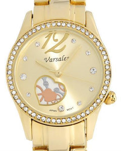 Varsales V5404-1GD Brand New Japan Quartz Watch with 0ctw crystal