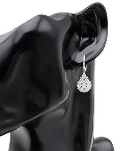 Brand New Earring with 0.92ctw diamond 14K White gold