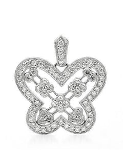 Brand New Pendant with 0.58ctw diamond 14K White gold
