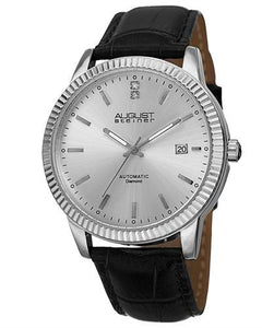 AUGUST Steiner AS8025SS Brand New Automatic date Watch with 0.01ctw diamond