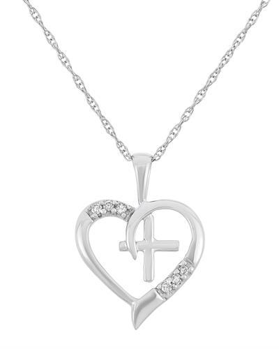 Brand New Necklace with 0.04ctw diamond 10K White gold
