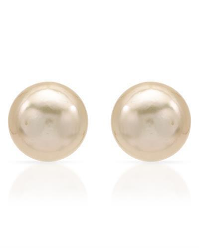 PEARL LUSTRE Brand New Earring with 0ctw pearl 14K Yellow gold