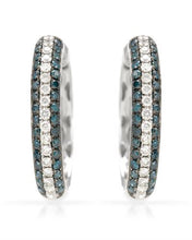 Load image into Gallery viewer, Brand New Earring with 1.07ctw of Precious Stones - diamond and diamond 14K White gold