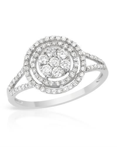 Brand New Ring with 0.53ctw diamond 14K White gold