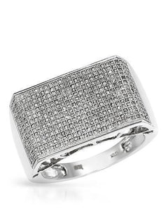 Lundstrom Brand New Ring with 1.2ctw diamond 10K White gold