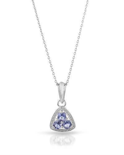 Brand New Necklace with 0.69ctw tanzanite 925 Silver sterling silver