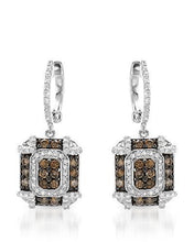 Load image into Gallery viewer, Brand New Earring with 1.04ctw of Precious Stones - diamond and diamond 14K White gold