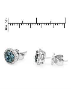 Brand New Earring with 0.46ctw of Precious Stones - diamond and diamond 14K White gold