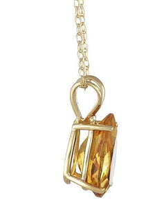 Brand New Necklace with 2.8ctw citrine 14K Yellow gold