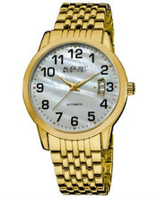Load image into Gallery viewer, AUGUST Steiner AS8026YG Brand New Automatic date Watch with 0ctw mother of pearl