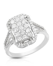 Load image into Gallery viewer, Brand New Ring with 0.99ctw diamond 14K White gold