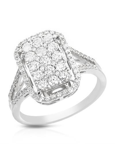 Brand New Ring with 0.99ctw diamond 14K White gold