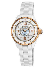 Load image into Gallery viewer, Akribos XXIV AK485WTR Brand New Japan Quartz date Watch with 0.04ctw of Precious Stones - diamond and mother of pearl