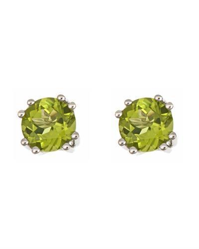 Brand New Earring with 2.9ctw peridot 925 Silver sterling silver